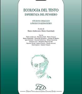 Ecologia del testo, esperienza del pensiero